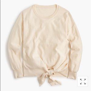 J. CREW tie front 100% cotton sweater